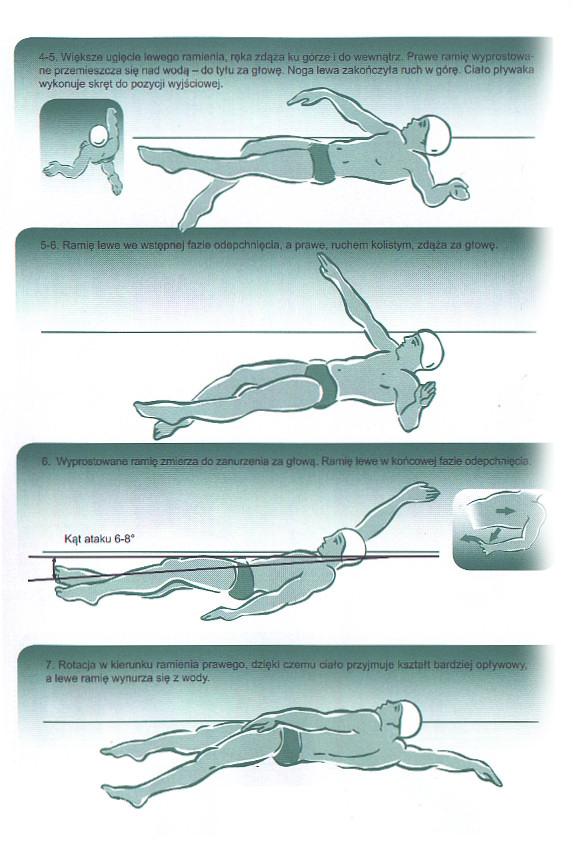 Kursy pływania stylem grzbietowym. Technika pływania na plecach.