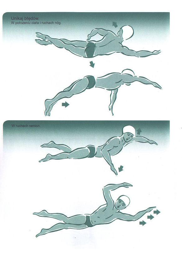 Lekcje pływania stylem dowolnym. Technika pływania crowlem / kraulem.