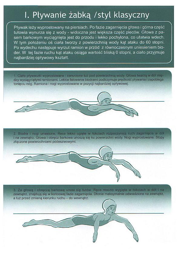 Naucz się pływać stylem klasycznym. Technika pływania żabką.